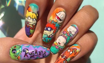 Rugrats Nails Nail Art Cartoon Inspired Manicure Nickelodeon