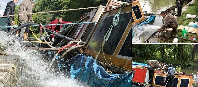 Drunken stag party smash hired barge into houseboat - Hot