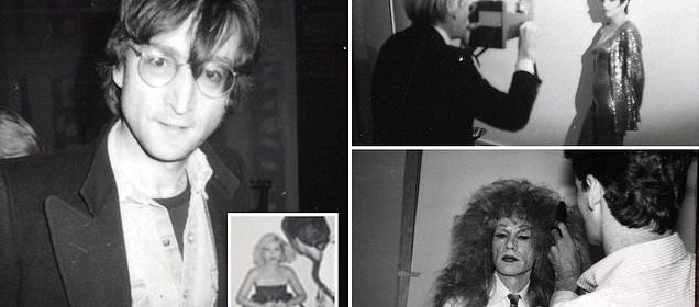 Andy Warhol's photo shoots with Liza Minnelli and John
