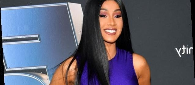 Cardi B Debuts Colorful New Butterfly Back Tattoo: Cardi B Debuts Stunning Pink Wig As She Rocks Daisy Dukes